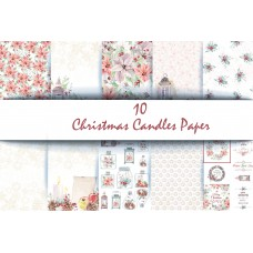 End of Financial Year Sale  Nini's Things Paper Kit - Christmas Candles + FREE CHRISTMAS DIE