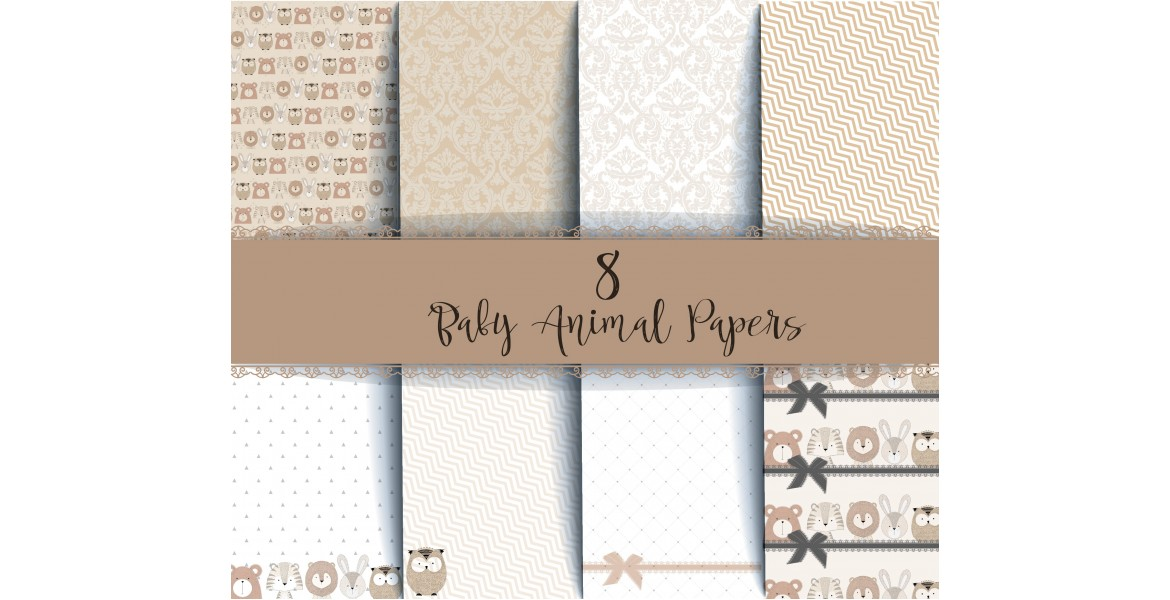 Nini's Things Paper Kit - Baby Animals