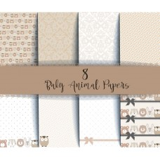 End of Financial Year Sale Nini's Things Paper Kit - Baby Animals + FREE BABY DIE