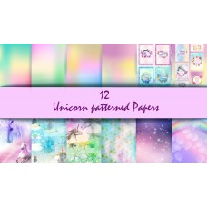 End of Financial Year Sale Nini's Things Paper Kit - Unicorn - Physical Copy + FREE CLOUD DIE SET