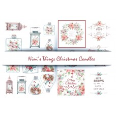 Nini's Things Paper Kit - Christmas Candles Embellishment Pack
