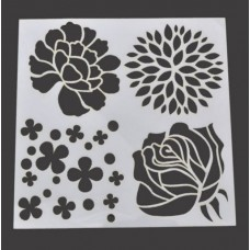 Nini's Things Stencil - 4 Flowers
