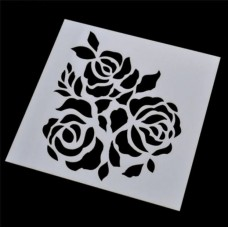 Nini's Things Stencil - Rose Cluster