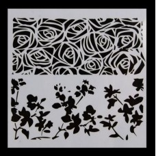 Nini's Things Stencil - Roses & Leaves