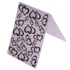 Nini's Things Embossing Folder - Coupled Hearts