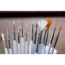 Set of 15 Fine Tip Brushes